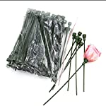 green rose stems artificial rose stem plastic flower stems (for preserved or silk roses)