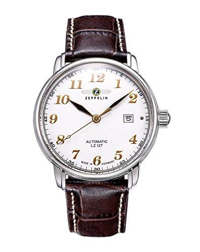 Zeppelin 76561 - Reloj de Caballero automático, Correa de Piel Color marrón