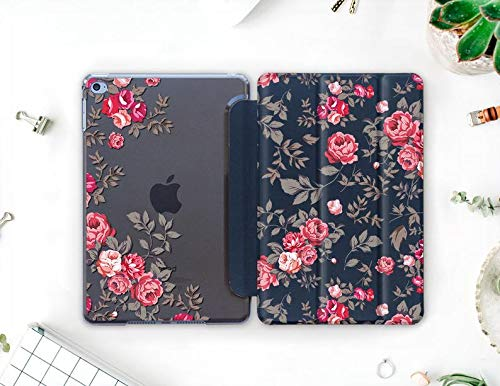 Tender Pink Rose Personalized iPad 10.2 2019 Case Cute Floral iPad Mini 2019 iPad Air 2019 Cover iPad Pro 10.9 Smart Cover for Girls Tablet