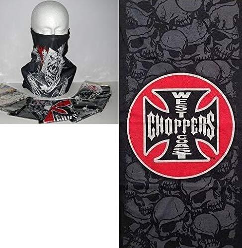 Mehrere Designs Multifunktionstuch Schlauchtuch Schal Maske Kälteschutzmaske Halloween Skifahren Snowboard Angeln Jagen Fahrrad Motorrad Paintball (West Coast Chopper)