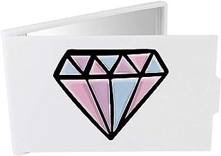 'Diamond' Compact / Travel / Pocket Makeup Mirror (CM00024320)