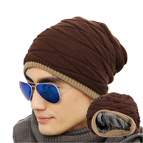 Pixnor Mens hiver Slouch Beanie Hat (café)