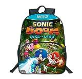 Ewtretr So-nic Mochila para niñas y niños, mochila escolar de anime, unisex, bonita mochila escolar de 30 x 10 x 24 cm, V