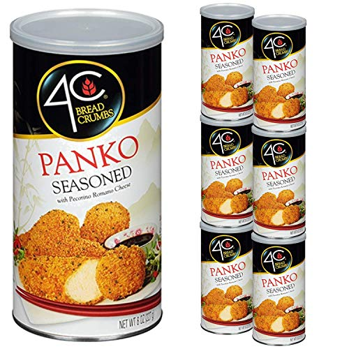 4C Premium Bread Crumbs | Regular & Gluten Free | Flavorful Crispy Crunchy | Value Pack (Panko Seasoned, 6pk)