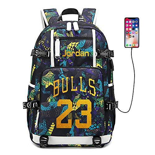 Stella del Giocatore di Basket Michael Jordan Zaino Multifunzionale Zaino da Viaggio per Studenti Fan Bookbag per Uomo Donna (Stile 5)
