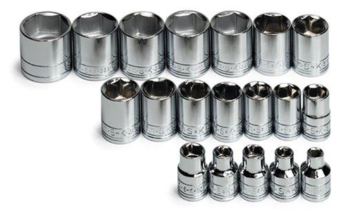 SK 3919 19 Piece 3/8-Inch Drive 6 Point 6-Millimeter to 24-Millimeter Socket Set