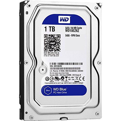 WD 8.9cm (3.5) 1TB SATA3 WD10EZRZ 5400 64MB Blue intern bulk