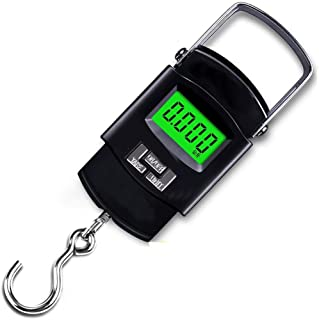 JJJJD Baggage Scale Portable Luggage Scale High-Precision Luggage Scale HD Night Vision Display with 2 AAA Batteries (Color : B)