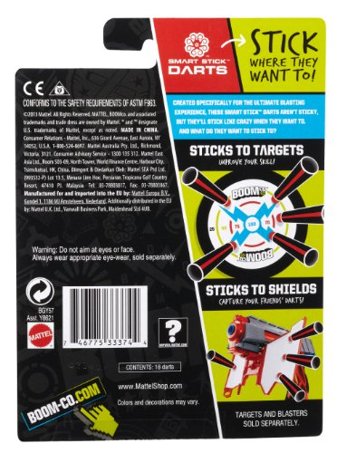 BOOMco. Extra Darts Pack, Black with Red Tip