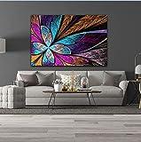 N / A Hermoso Color Abstracto Mariposa decoración del hogar HD Cartel de Pared impresión Lienzo Pintura Sala de Arte Imagen sin Marco 20x30 cm