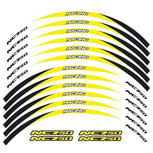 12 PCS Ajuste de la Rueda de la Rueda de la Rueda de la Rueda de la Raya de la Raya de la Raya para Honda NC750S NC750X NC750 (Color : 1)