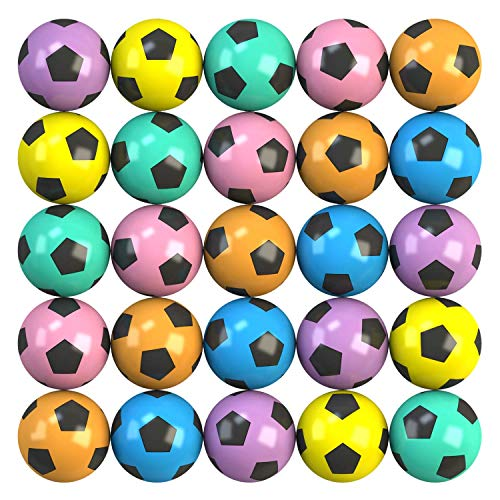 Entervending Bouncy Balls - 50 Pcs Small Bounce Balls - 1.26 Inch Soccer Bounce Balls - 32 mm Mini...