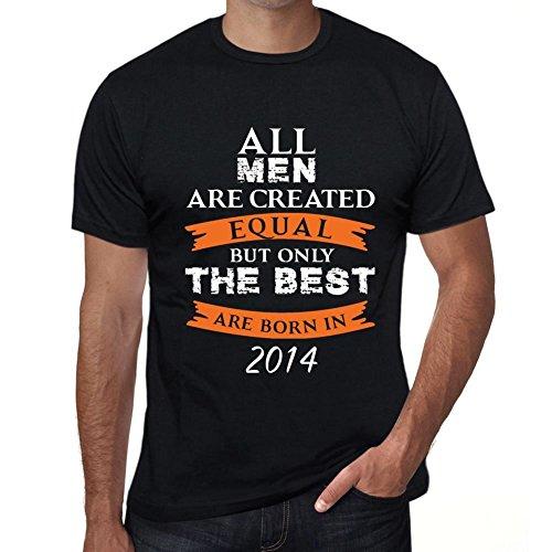 2014, Only The Best Are Born in 2014 Hombre Camiseta Negro Regalo De Cumpleaños 00509