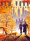 A SLICE IN TIME New York City Central Park United States Retro Travel Home Collectible Wall Decor Advertisement Art Poster Print. 10 x 13.5 inches