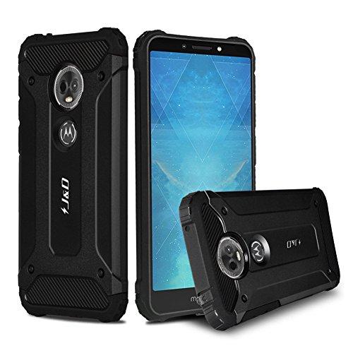 JundD Moto E5 Plus Hülle, [ArmorBox] [Doppelschicht] [Heavy-Duty-Schutz] Hybrid Stoßfest Schutzhülle für Motorola Moto E5 Plus - [Nicht kompatibel mit Moto E5 Play/Moto E5] - Schwarz