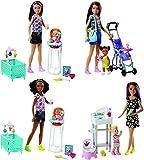 Mattel FHY97 - Playsets Surtidos con Muñecas Barbie Skipper Babysitters, Multicolor
