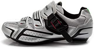 Hemanzi Cycling shoes, shoe breathable road bicycle locks, slip, professional sports cycling shoes, Velcro trim bar buckle...