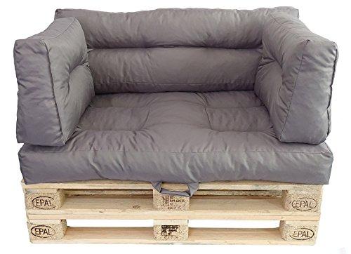 Prosanvita Palettenkissen Taupe, Moderne Paletten-Couchkissen für den Innen- und Außenbereich, abwaschbare Kissen, Sitzkissen ca. 120 x 80 cm