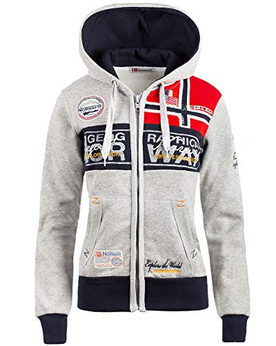 Geographical Norway Bans Production Sudadera con capucha para mujer Color gris. M