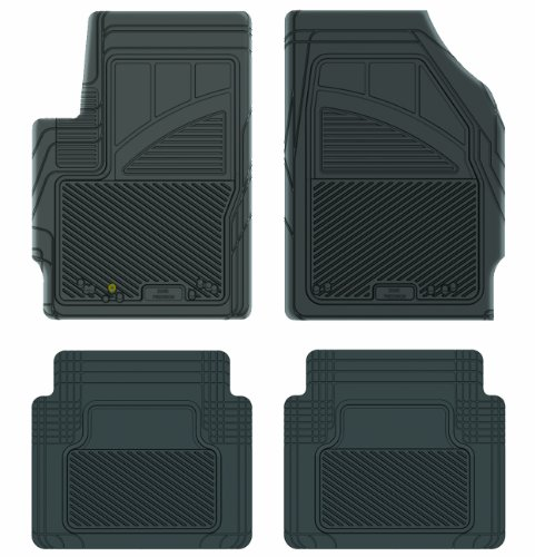 Koolatron Pants Saver Custom Fit 4 Piece All Weather Car Mat for Select Mazda Tribute Models (Black)