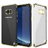 Galaxy S8 Plus Case, Punkcase [Blaze Series] Protective Cover W/PunkShield Screen Protector [Shockproof] [Slim Fit] for Samsung Galaxy S8+ Edge [Gold]