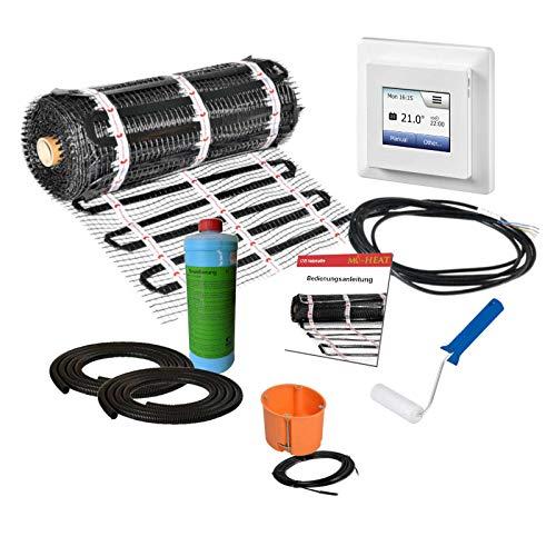 200W 3,5m² vloerverwarming als hoofdverwarming + MCD5 thermostaat digitaal