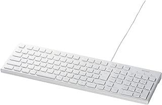 iBUFFALO USB接続 有線スタイリッシュキーボード ホワイト BSKBU15WH