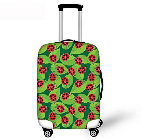 Funda De Equipaje Ladybug Maleta Protectora Resistente Al Desgaste Cubierta De Polvo Funda De Equipaje De Viaje Se Adapta A 22-25 Pulgadas Protector De Equipaje De Viaje M