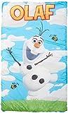 Disney Frozen Olaf Quilted Slumber Bag, Bonus Backpack with Straps, Light Blue/White