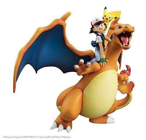 Megahouse Gem Series Pokemon Ash Ketchum Pikachu Glurak (Charizard) 19cm PVC ABS Figure