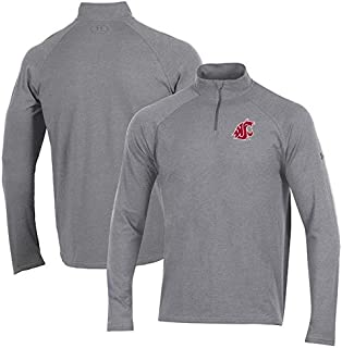 Under Armour Under Armour Washington State Cougars Heathered Gray Charged Cotton Quarter-Zip Jacket スポーツ用品 【並行輸入品】