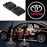 ワイヤレスカードアは、トヨタ Toyota 歓迎のレーザープロジェクターのロゴライトゴーストシャドーライトランプのロゴ 2本