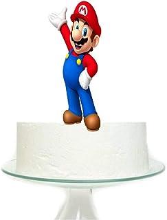 غطاء كعكة كبير ماريو جيم لمستلزمات حفلات أعياد الميلاد للأطفال