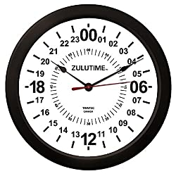 Trintec 14 24 Hour Military Wall Clock in White ZT24HR14-W