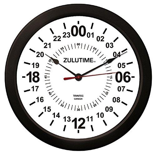 Trintec 14' 24 Hour Military Wall Clock in White ZT24HR14-W