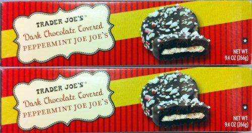 2 Pack Trader Joe's Dark Chocolate Covered Peppermint Joe Joe's Cookies