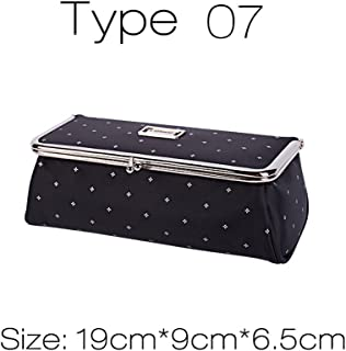 Women Fashion Party Makeup Bag With Mirror Small Cosmetic Organizer Travel Make Up Pen Lipstick Brush Toolbox Pouch Storage Case