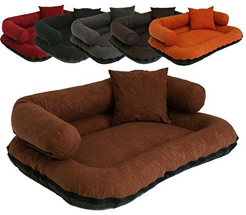 Leo4dog. Sofa Alova. M L XL XXL XXXL 6 colors. Dog bed, dog cushion, dog sofa. (L-100X80, Orange)
