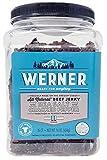 Werner Gourmet Meat Snacks, Sea Salt & Cracked Pepper Beef Jerky Jar - 16oz.