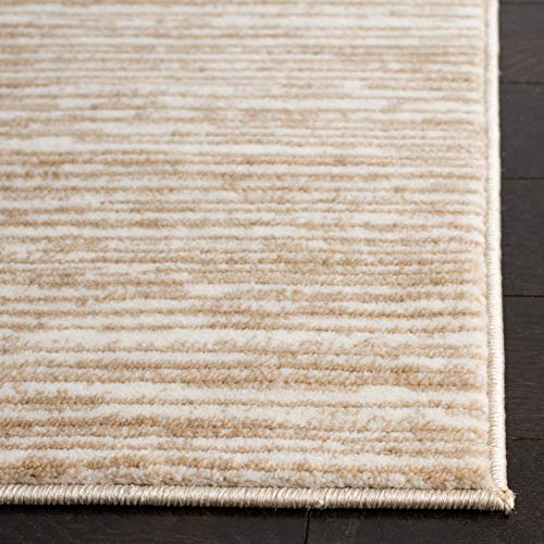Safavieh Vision Collection VSN606F Modern Ombre Tonal Chic Non-Shedding Stain Resistant Living Room Bedroom Area Rug, 6' x 9', Cream