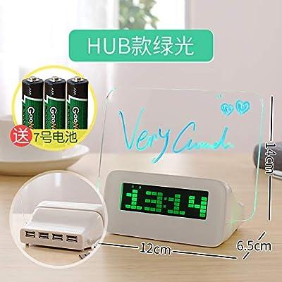 LTOOD Tablero de Mensajes del Despertador, Tablero, Reloj electrónico para niños, Cama para