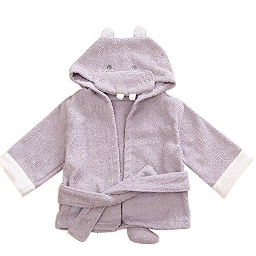 KINDOYO Nouveau née Poncho à Capuche en coton pour Bébé Coton Lovely Animals Serviette de Plage