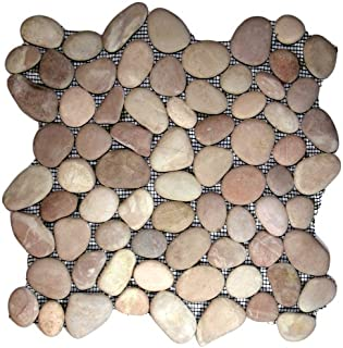 Berry Pebble Tile Sample