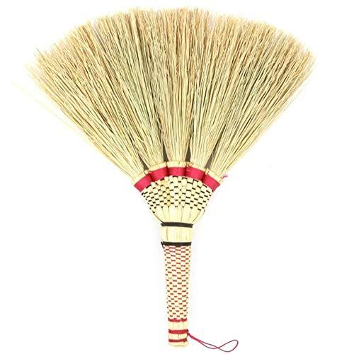 NJIUHB Bezem, stro bezem Vegen Dust Traditionele Mini slijtvaste Sterke Hardheid, Wall-Mounted Hand Made, 11 * 10.2in
