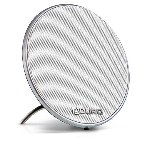 Aduro AMPLIFY Solid Sound Elegant & Modern Single True Wireless Bluetooth 4.0 Speaker for Home, Office, TV (White)