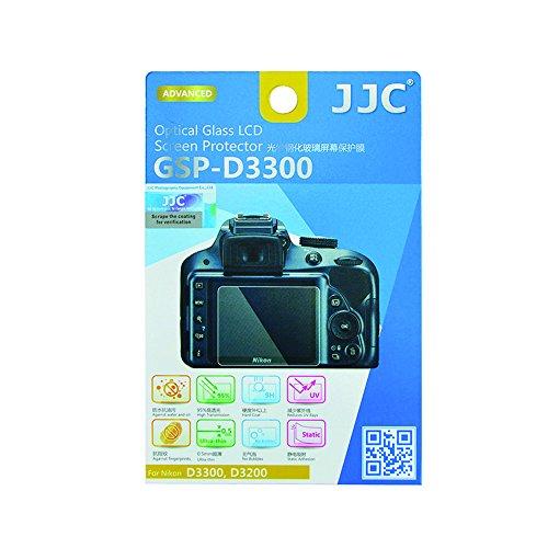 JJC LCD–Protector de Pantalla de Cristal óptico para Nikon D3400/D3300/D3200