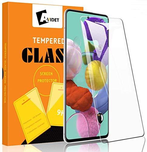 A-VIDET Protector Pantalla para Samsung Galaxy A51,Cristal Vidrio Templado Premium 9H Dureza Alta Definicion Anti-Explosion Protector de Pantalla para Samsung Galaxy A51 (3 Piezas)