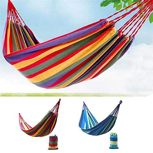 NOBRAND Individual Hammock Portable Camping Garden Beach Travel Hammock Outdoor Ultralight Colorful Cotton Polyester Swing Bed