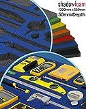 Blue Shadow Schaumstoff-Werkzeug-Organizer – Britool & Draper blau & Werkzeugkiste Organisation und Autorennsport-Organizer, blau