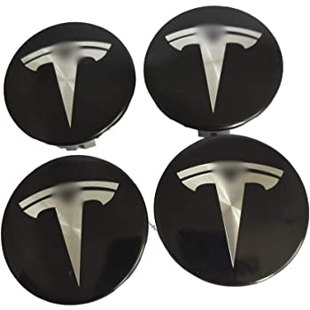starter 4 ST/ÜCKE Tesla Wheel Logo Center Radkappe , wasserdichte Radkappe Aus Edelstahl F/ür Tesla Model S X 3